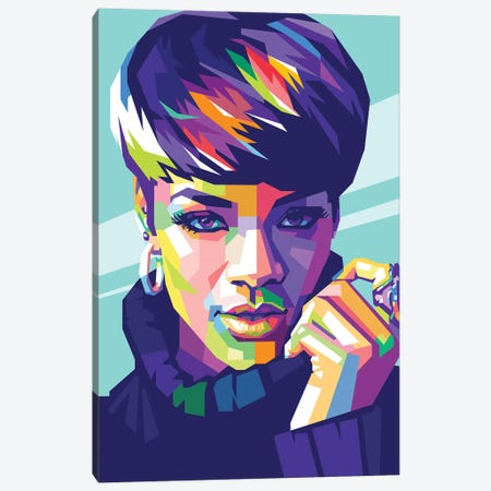 Rihanna Canvas Print #DYB60} by Dayat Banggai Canvas Art