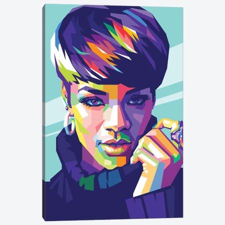 Rihanna Canvas Print #DYB60} by Dayat Banggai Canvas Art