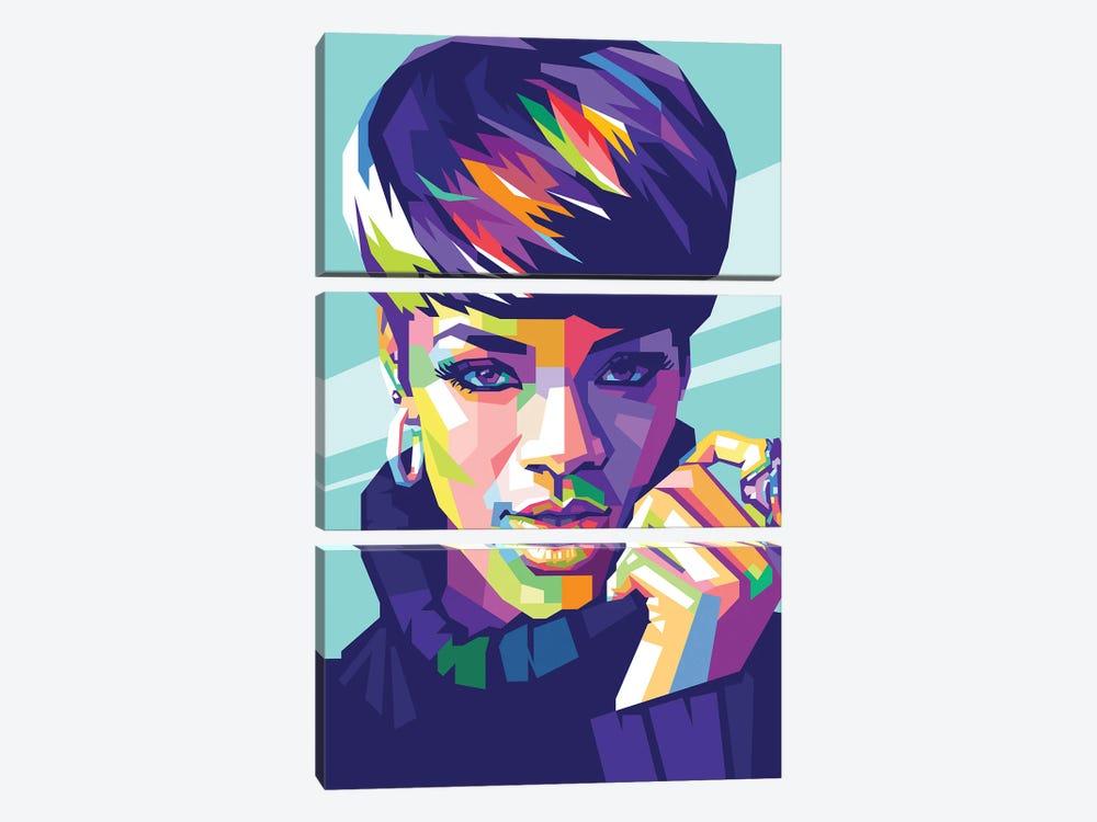 Rihanna by Dayat Banggai 3-piece Canvas Art Print