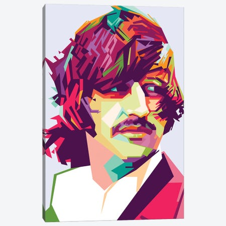 Ringo Starr I Canvas Print #DYB61} by Dayat Banggai Canvas Art
