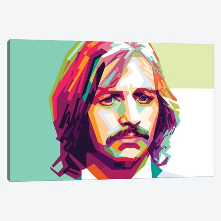 Ringo Starr II Canvas Print #DYB62} by Dayat Banggai Canvas Wall Art
