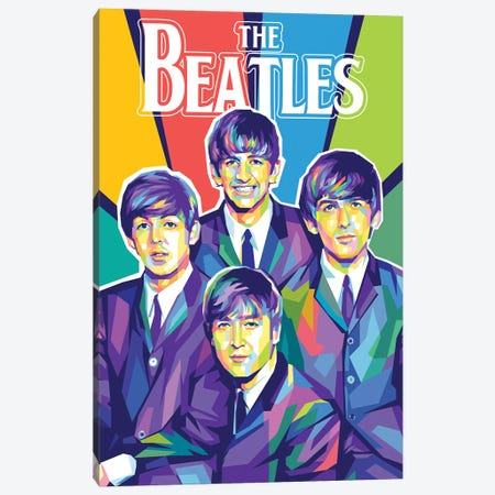 The Beatles I Canvas Print #DYB68} by Dayat Banggai Canvas Wall Art