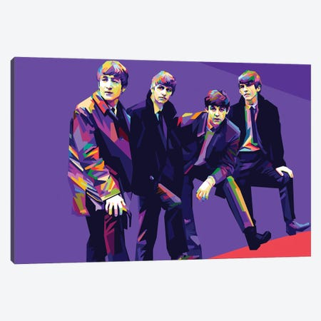 The Beatles II Canvas Print #DYB69} by Dayat Banggai Canvas Art