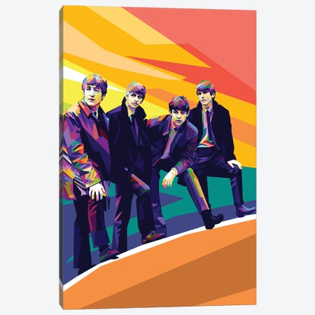 The Beatles III Canvas Print #DYB70} by Dayat Banggai Canvas Print