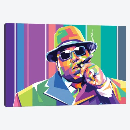 The Notorious BIG Canvas Print #DYB72} by Dayat Banggai Canvas Art Print