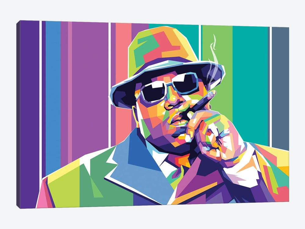 The Notorious BIG by Dayat Banggai 1-piece Canvas Artwork