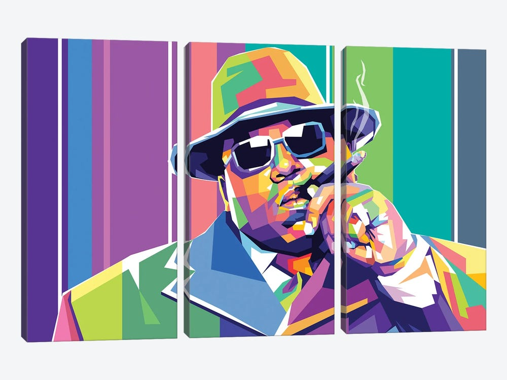 The Notorious BIG by Dayat Banggai 3-piece Canvas Artwork