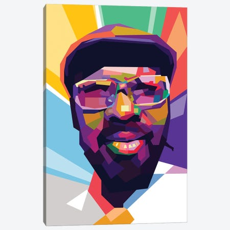 Thelonious Monk Canvas Print #DYB73} by Dayat Banggai Canvas Print