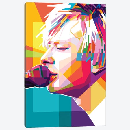 Thom Yorke II Canvas Print #DYB75} by Dayat Banggai Canvas Art