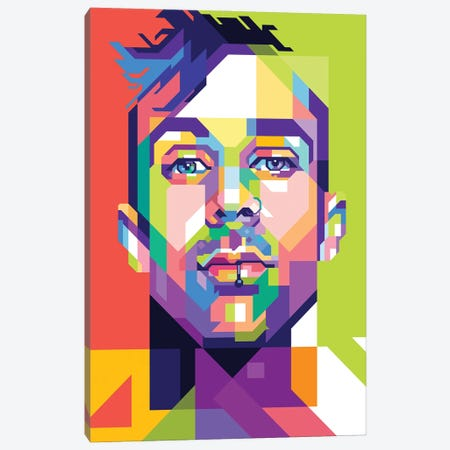 Travis Barker Canvas Print #DYB76} by Dayat Banggai Canvas Art