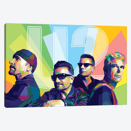 U2 Canvas Print #DYB77} by Dayat Banggai Canvas Artwork