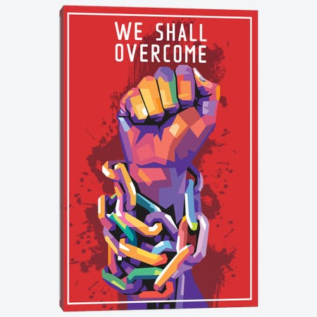 We Shall Overcome Canvas Print #DYB78} by Dayat Banggai Canvas Art Print