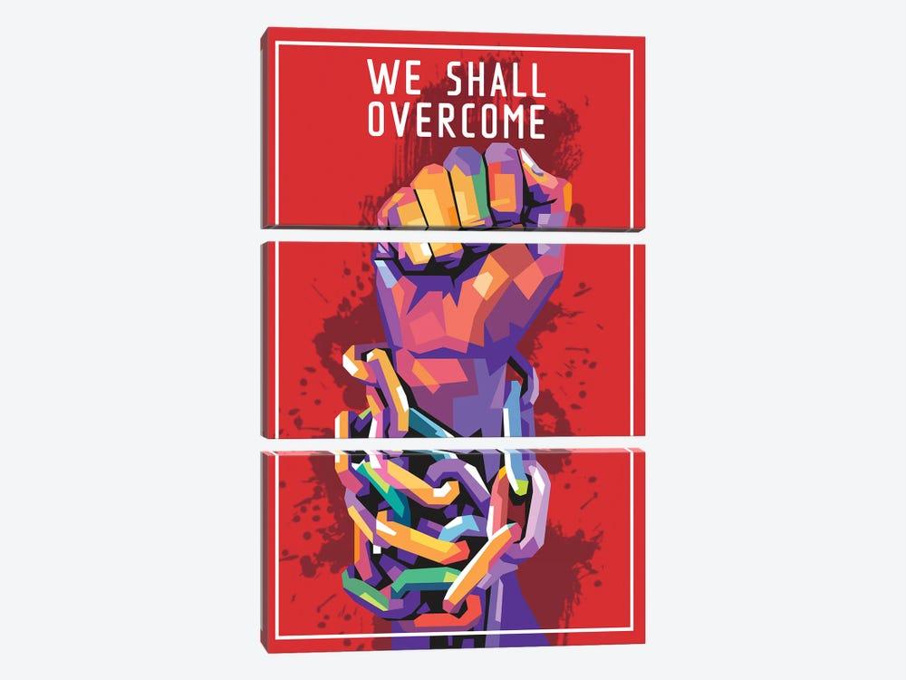 We Shall Overcome by Dayat Banggai 3-piece Canvas Artwork