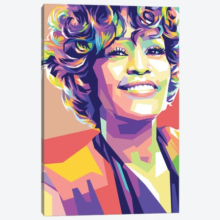 Whitney Houston Canvas Print #DYB79} by Dayat Banggai Art Print