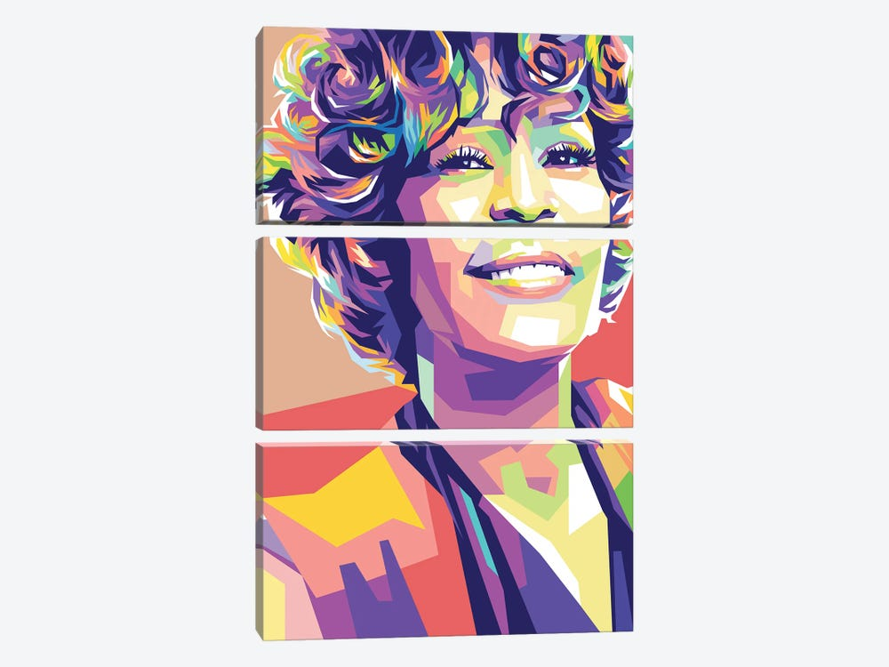 Whitney Houston by Dayat Banggai 3-piece Art Print