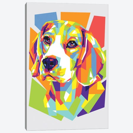 Beagle Canvas Print #DYB7} by Dayat Banggai Canvas Art