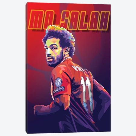 Mo Salah Canvas Print #DYB80} by Dayat Banggai Canvas Wall Art