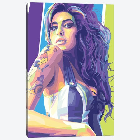 Amy Winehouse Canvas Print #DYB83} by Dayat Banggai Canvas Wall Art