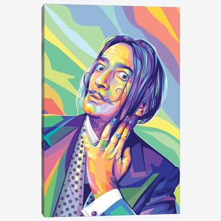 Salvador Dalí Canvas Print #DYB86} by Dayat Banggai Canvas Art Print