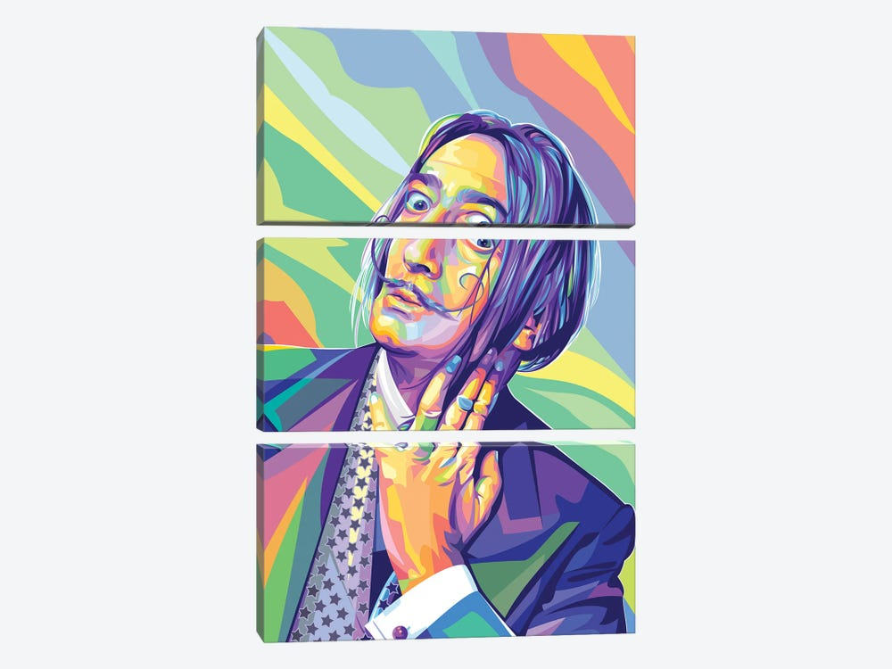 Salvador Dalí by Dayat Banggai 3-piece Canvas Art Print