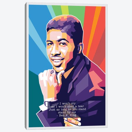 Ben E King Canvas Print #DYB8} by Dayat Banggai Art Print