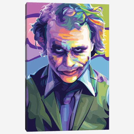 Heath Ledger Joker Canvas Print #DYB91} by Dayat Banggai Canvas Art Print