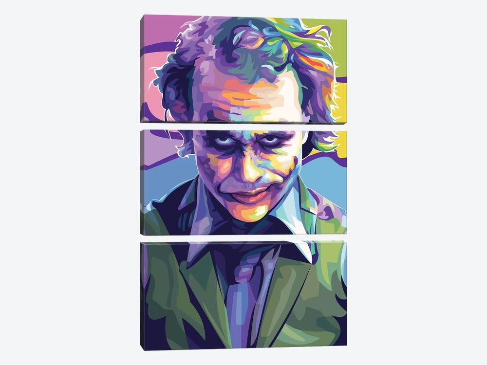 Heath Ledger Joker by Dayat Banggai 3-piece Art Print
