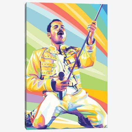 Freddie Mercury on Stage Canvas Print #DYB92} by Dayat Banggai Art Print