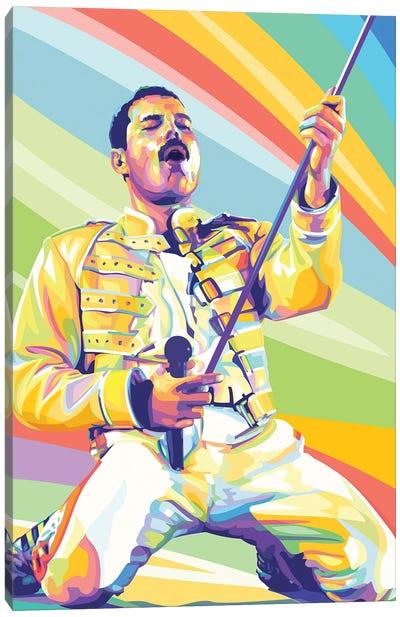 Freddie Mercury on Stage Canvas Art Print