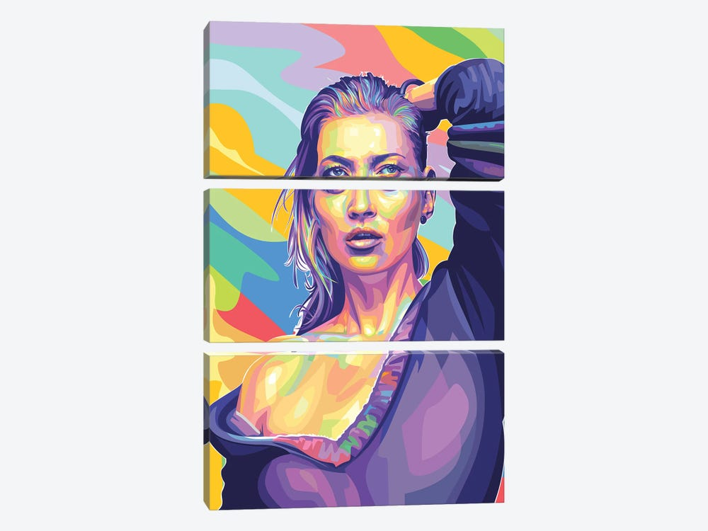 Kate Moss by Dayat Banggai 3-piece Canvas Art