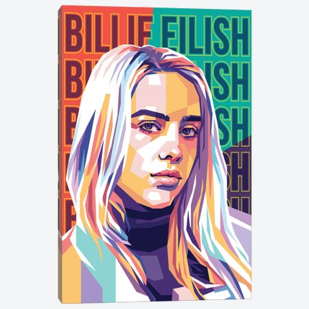 Billie Eilish Canvas Print #DYB9} by Dayat Banggai Canvas Print