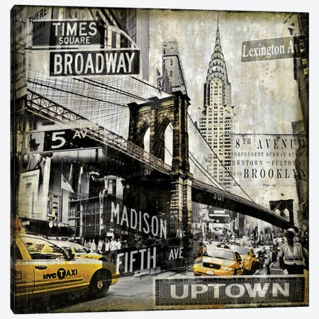 Landmarks NYC Canvas Print #DYM10} by Dylan Matthews Canvas Wall Art