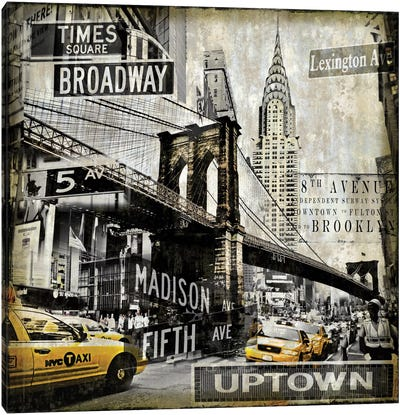 Landmarks NYC Canvas Art Print