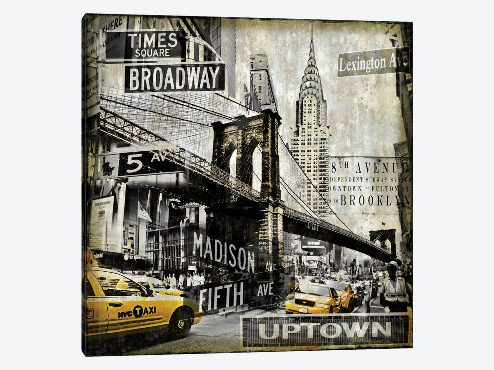 Landmarks NYC by Dylan Matthews 1-piece Canvas Artwork