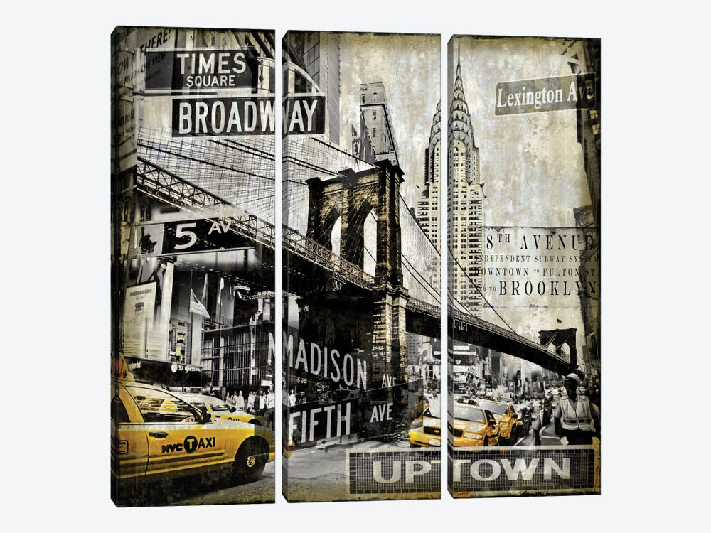 Landmarks NYC by Dylan Matthews 3-piece Canvas Wall Art
