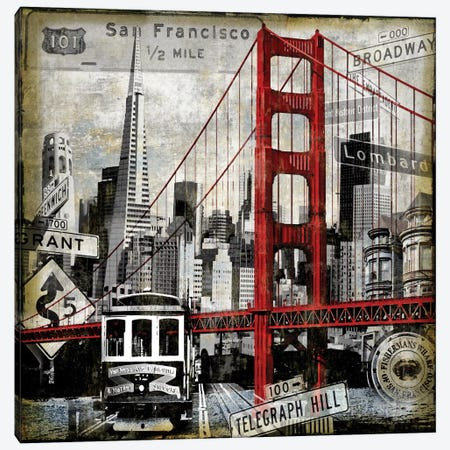 Landmarks San Francisco Canvas Print #DYM11} by Dylan Matthews Canvas Art