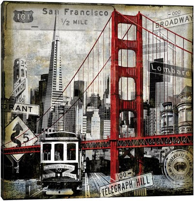 Landmarks San Francisco Canvas Art Print