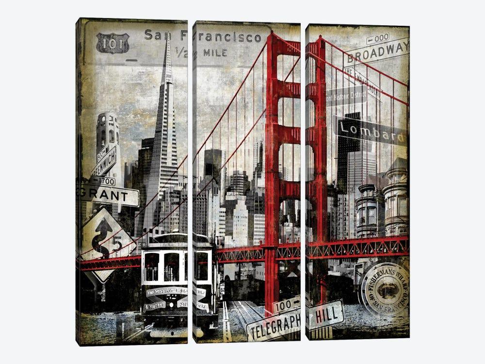 Landmarks San Francisco by Dylan Matthews 3-piece Art Print