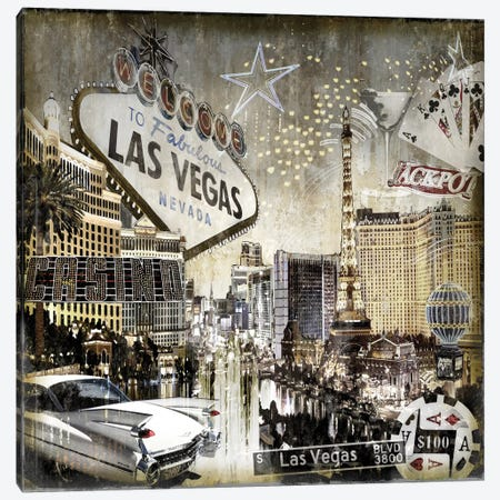 Las Vegas Canvas Print #DYM12} by Dylan Matthews Canvas Wall Art