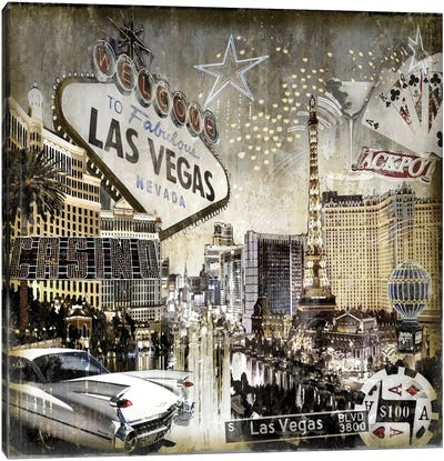 Las Vegas Canvas Art Print