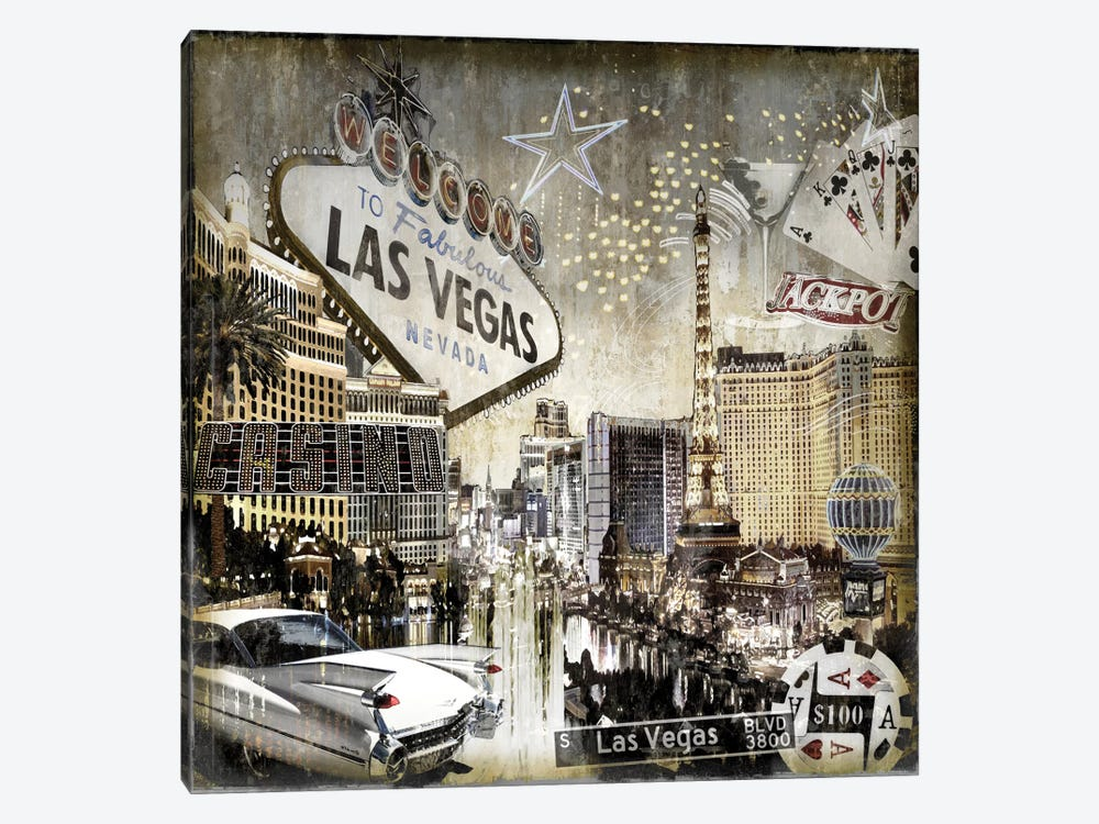 Las Vegas by Dylan Matthews 1-piece Canvas Art