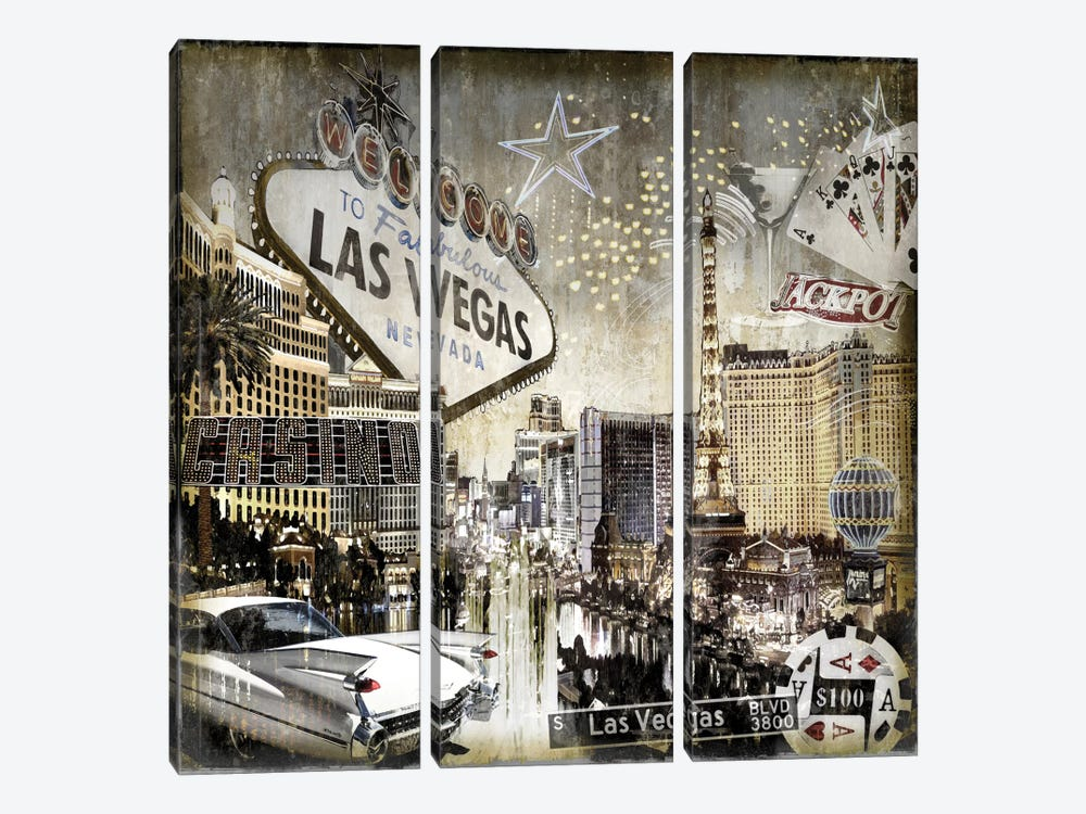 Las Vegas by Dylan Matthews 3-piece Canvas Artwork