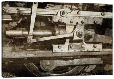 Locomotive Detail Canvas Art Print