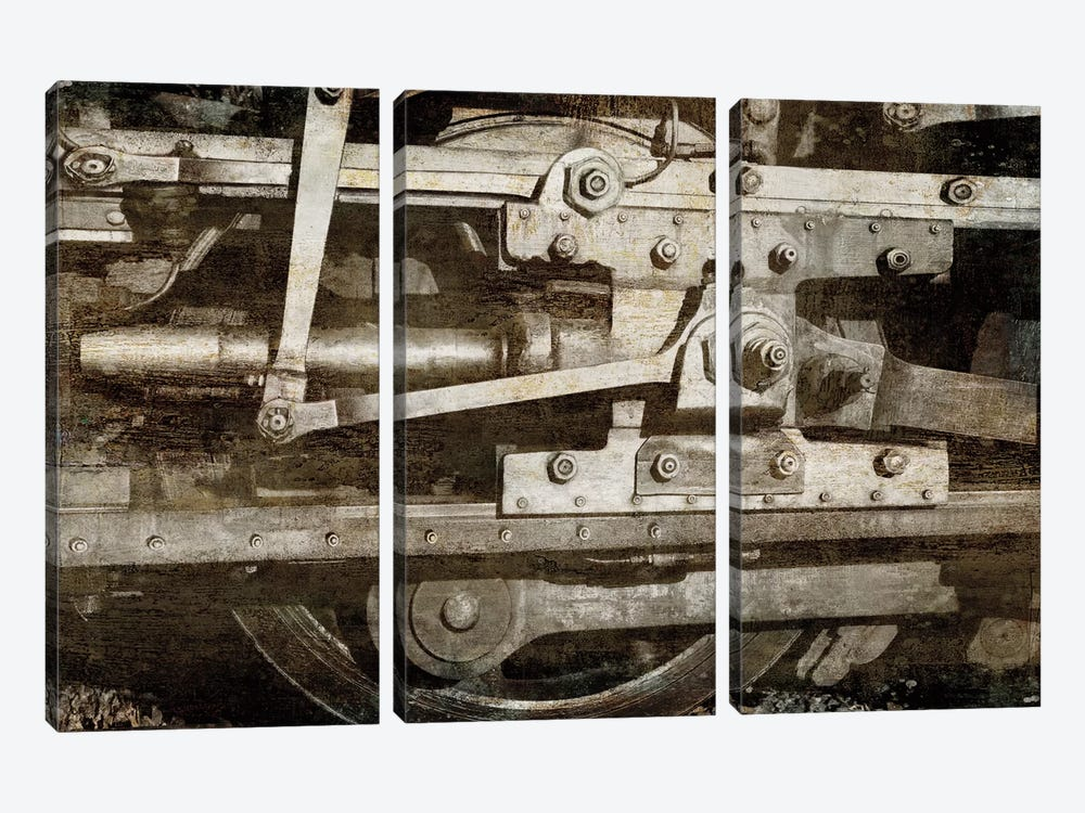 Locomotive Detail by Dylan Matthews 3-piece Canvas Art