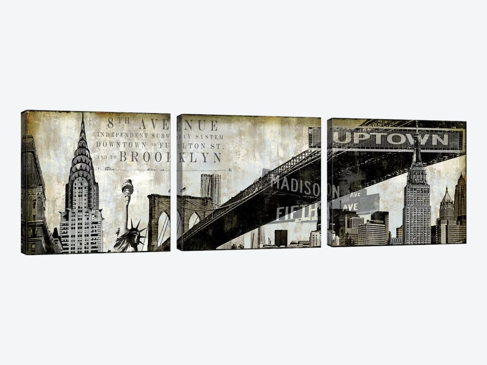 NY Perspectives by Dylan Matthews 3-piece Canvas Art Print