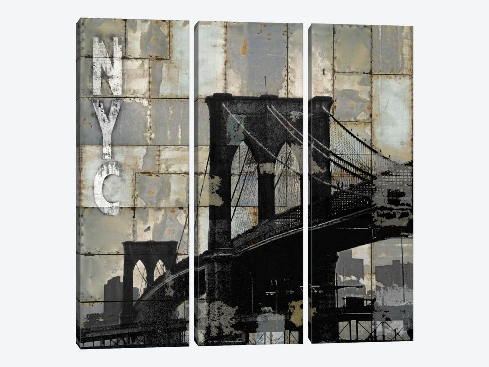NYC Industrial I by Dylan Matthews 3-piece Canvas Art