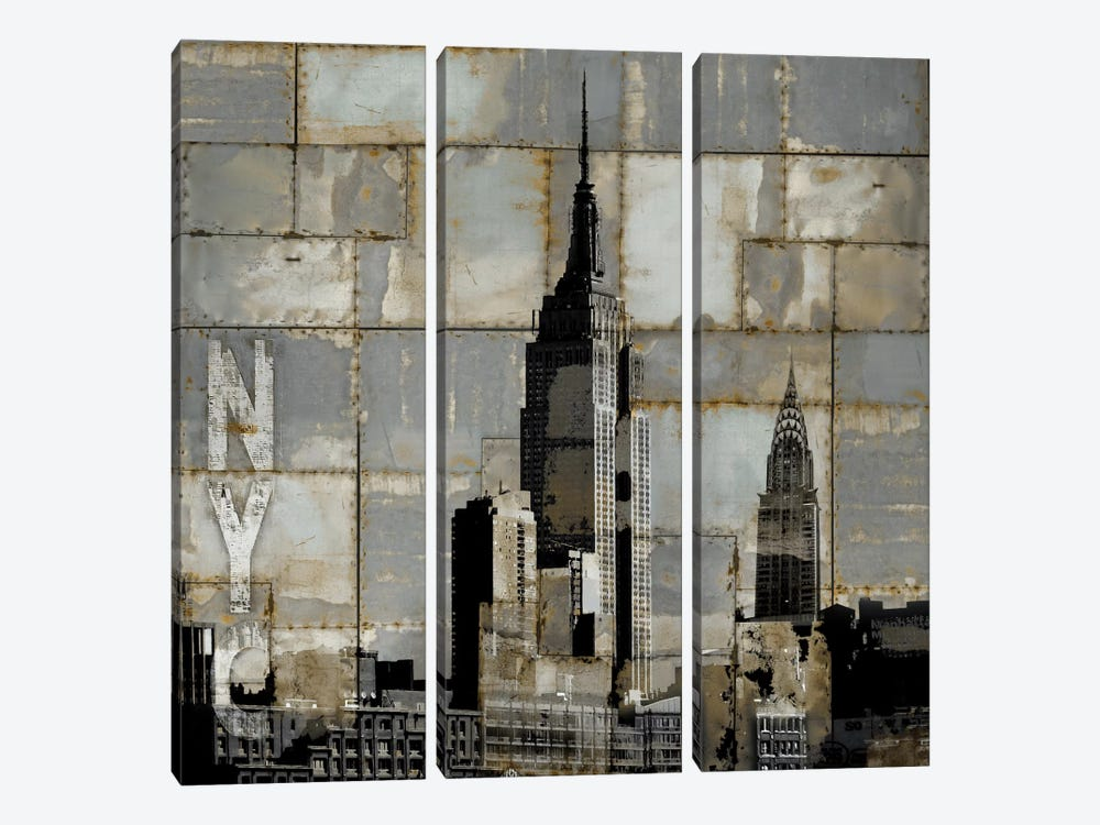 NYC Industrial II by Dylan Matthews 3-piece Canvas Print