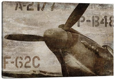 Vintage Airplane Canvas Art Print