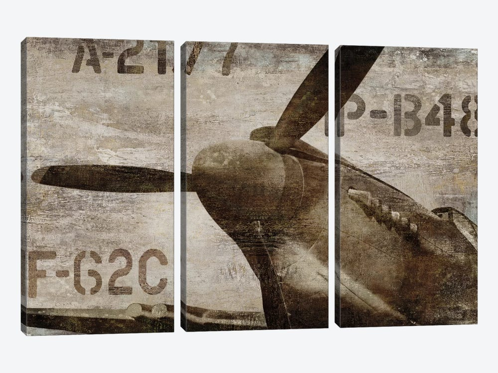 Vintage Airplane 3-piece Canvas Art Print