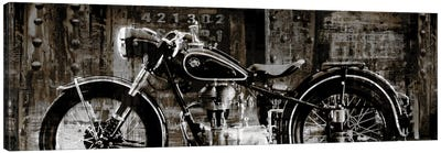 Vintage Motorcycle Canvas Art Print